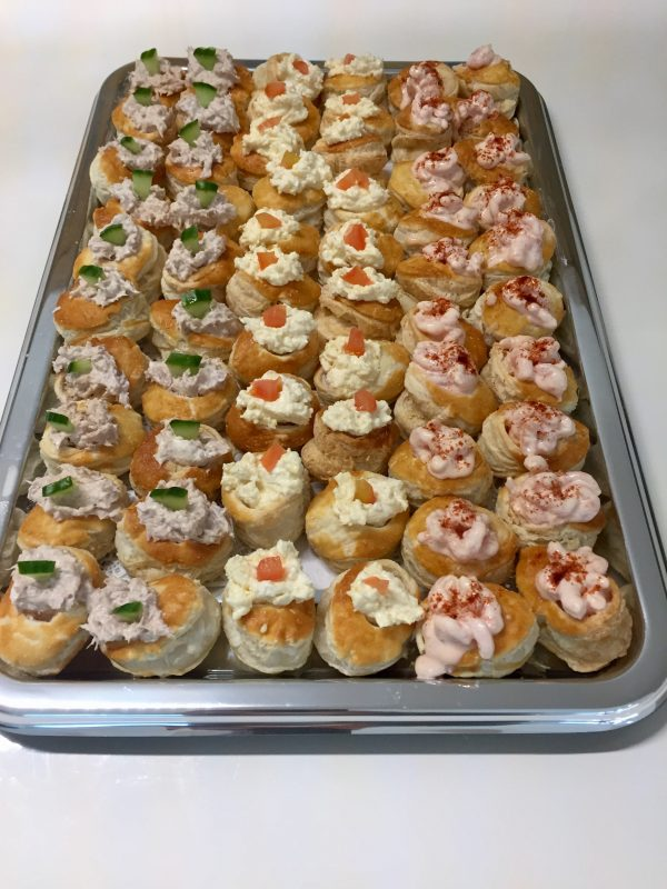 Cocktail Vol Au Vents Classic Fillings X 60 Lay And Leave Buffets