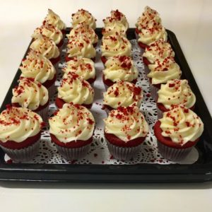 Home Baked Red Velvet Mini Cup Cakes