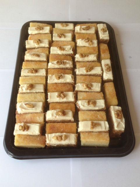 Homemade Mini Cake Slices - Lemon Drizzle and Carrot Cake