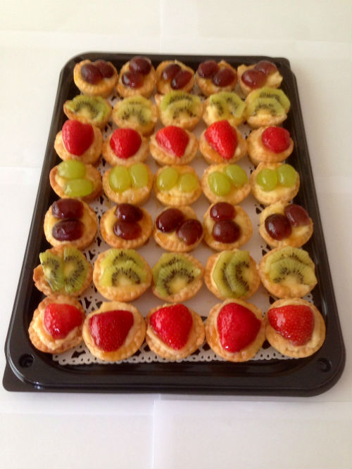Mini Homemade Fresh Fruit Tartelettes