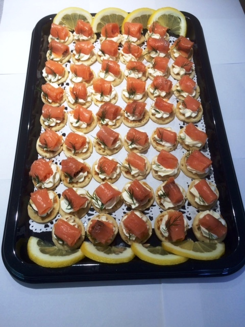 Mini Smoked Salmon & Cream Cheese Blinis
